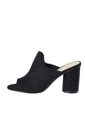 Bianco - Stiletter - Mule Sandal - Black