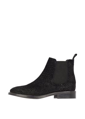Bianco - Støvler - Classic Leather Chelsea - Black Croco Suede