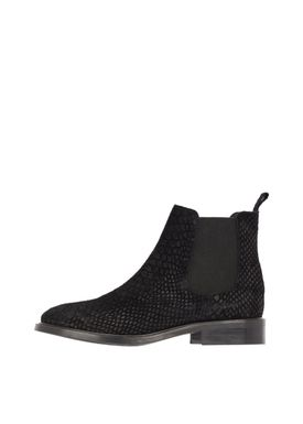 Bianco - Boots - Classic Leather Chelsea Kroko - Sort kroko