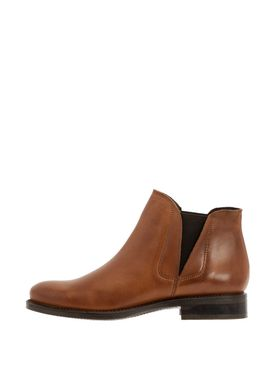 Bianco - Boots - V-Split Leather Boots - Cognac