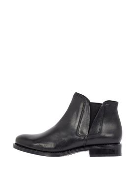Bianco - Støvler - V-Split Leather Boots - Black