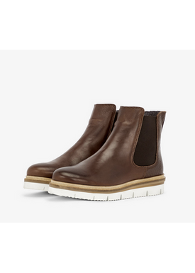 Bianco - Boots - Warm Coated Cleated Chelsea - Dark Brown