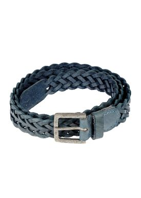 Black Colour - Bælte - Braid Belt Thin - Blå