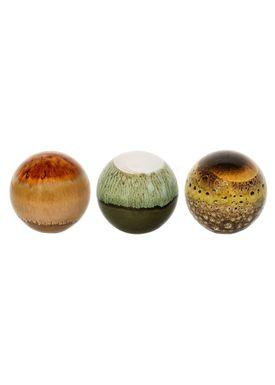 Bloomingville - Krea - Dekorationskugle - Stoneware Ceramic Multi
