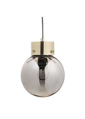 Bloomingville - Pendler - Pendel Sølv Glas - Ø18 H22