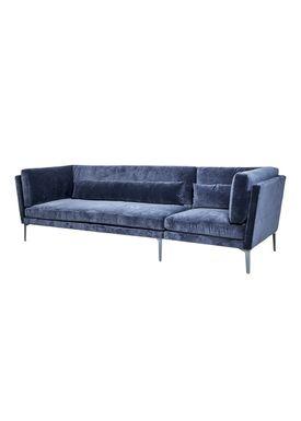 Bloomingville - Sofa - Rox Sofa - Blå Polyester