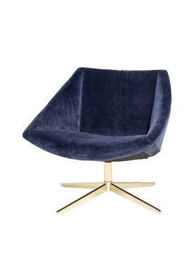 Bloomingville - Chair - Elegant Stol - Blue Polyester