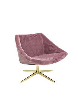 Bloomingville - Stol - Elegant Stol - Rosa Polyester