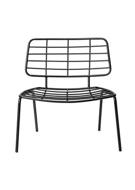 Bloomingville - Stol -  Mesh Lounge Stol - Sort Metal