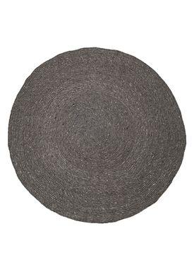 Bloomingville - Tæppe - tæppe grå uld - Ø 140