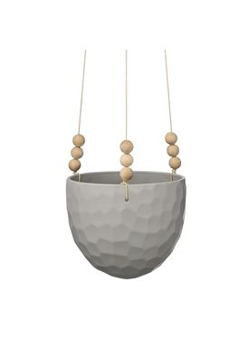 Bloomingville - Urtepotte - Old School Hanging - Cool Grey