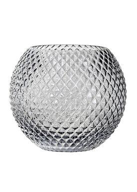 Bloomingville - Vase - Vase Grå Glas - Ø25 H20