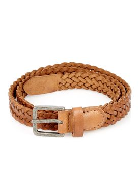 -  - Braid Belt Thin - Cognac