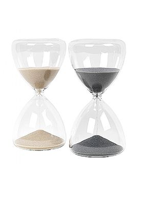 Broste CPH - Krea - Time glas - Grey Large