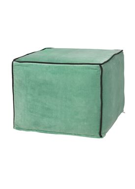 Broste CPH - Puf - The Puf - Velvet and Canvas - Velvet - Granit Green