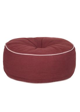 Broste CPH - Puf - The Puf - Velvet and Canvas - Canvas - Port