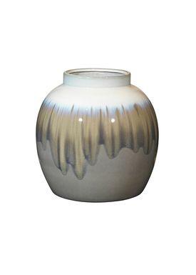 Broste CPH - Vase - Rune Vase - Fungi/Hvid Glasur