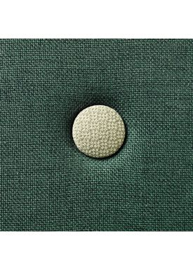 By KlipKlap - Madras - KK 3 fold single w. buttons - Deep green w. light green buttons