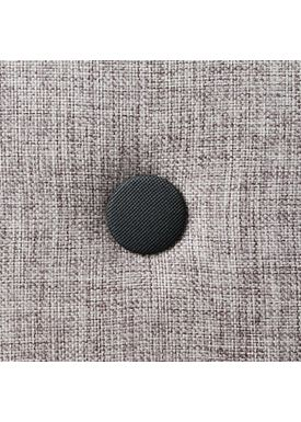 By KlipKlap - Madras - KK 3 fold single w. buttons - Multi grey w. grey buttons