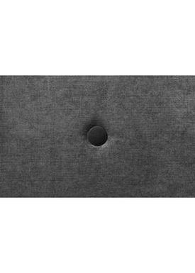 By KlipKlap - Mattress - KK 3 fold single w. buttons - Velvet anthracite grey w. dark grey buttons