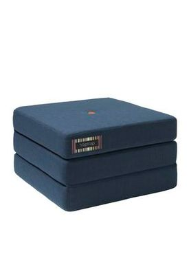 By KlipKlap - Mattress - KK 3 fold single w. buttons - Dark blue w. orange buttons