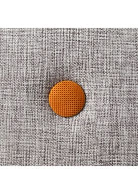By KlipKlap - Madras - KK 3 fold single w. buttons - Multi grey w. orange buttons