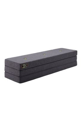 By KlipKlap - Mattress - KK 3 fold w. buttons (180 cm) - Blue grey w. grey buttons