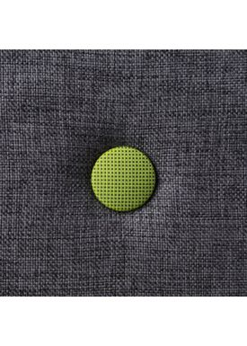 By KlipKlap - Madras - KK 3 fold w. buttons - Blue grey w. green buttons XL