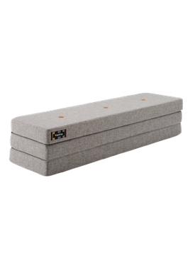 By KlipKlap - Mattress - KK 3 fold w. buttons (180 cm) - Multi grey w. orange buttons