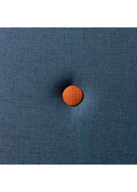 By KlipKlap - Madras - KK 3 fold w. buttons - Dark blue w. orange buttons XL