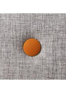By KlipKlap - Madras - KK 3 fold w. buttons  - Multi grey w. orange buttons