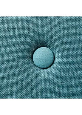 By KlipKlap - Madras - KK 3 fold w. buttons (180 cm) - Dusty blue w. blue buttons