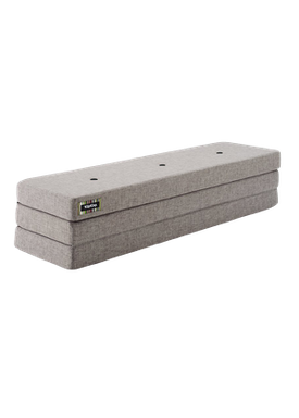 By KlipKlap - Mattress - KK 3 fold w. buttons (180 cm) - Multi grey w. grey buttons XL
