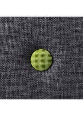 By KlipKlap - Madras - KK 4 fold w. buttons - Blue grey w. green buttons