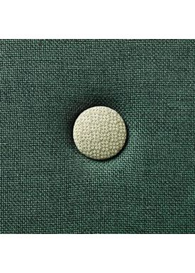 By KlipKlap - Madras - KK 4 fold w. buttons - Deep green w. light green buttons