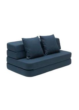 By KlipKlap - Sofa - KK 3 fold sofa w. buttons - Dark blue w black buttons