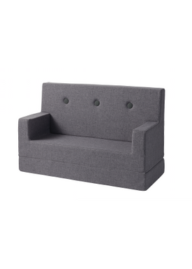 By KlipKlap - Sofa - KK Kids Sofa - Blue grey w grey buttons