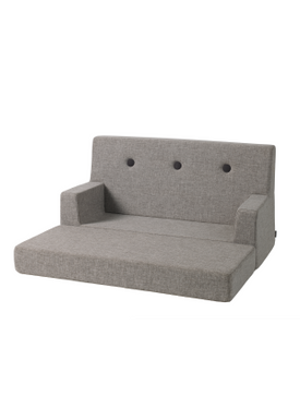 By KlipKlap - Couch - KK Kids Sofa - Multi grey w grey buttons