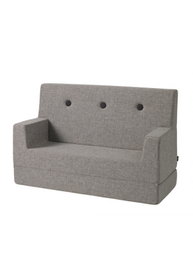 By KlipKlap - Sofa - KK Kids Sofa - Multi grey w grey buttons