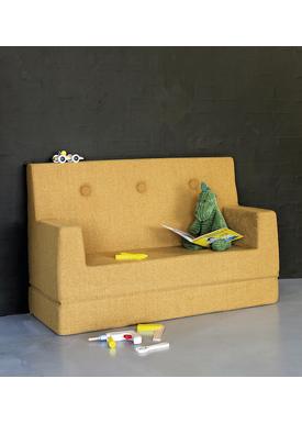 By KlipKlap - Couch - KK Kids Sofa - Mustard w mustard buttons
