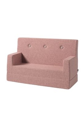 By KlipKlap - Sofa - KK Kids Sofa - Soft Rose w Soft Rose buttons