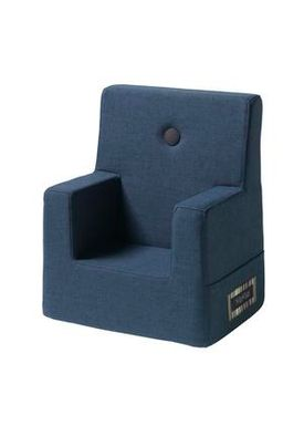 By KlipKlap - Stol - KK Kids Chair - Dark blue w black buttons