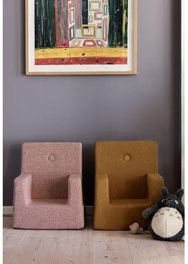 By KlipKlap - Chair - KK Kids Chair - Mustard w mustard buttons