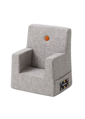 By KlipKlap - Stol - KK Kids Chair - Multi grey 520 w orange buttons