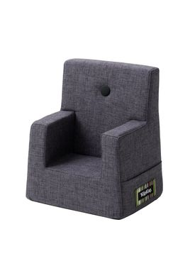 By KlipKlap - Stol - KK Kids Chair - Blue grey 510 w grey buttons