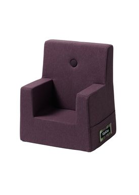 By KlipKlap - Stol - KK Kids Chair - Plum 12314 w plum buttons