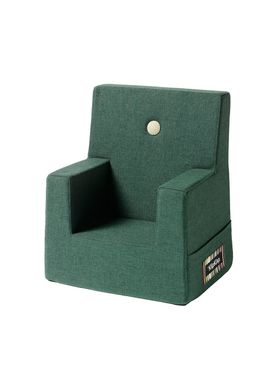 By KlipKlap - Stol - KK Kids Chair - Deep green 920 w light green buttons