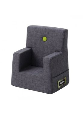By KlipKlap - Stol - KK Kids Chair XL - Blue grey 510 w green buttons