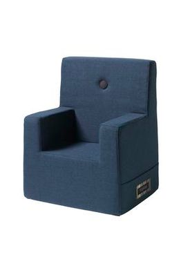 By KlipKlap - Chair - KK Kids Chair XL - Dark blue w black buttons