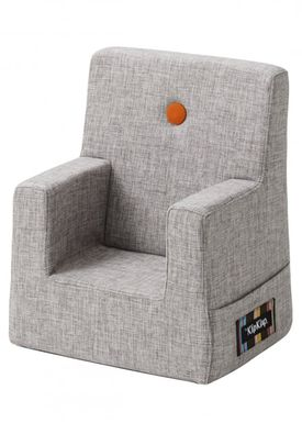 By KlipKlap - Stol - KK Kids Chair XL - Multi grey 520 w orange buttons